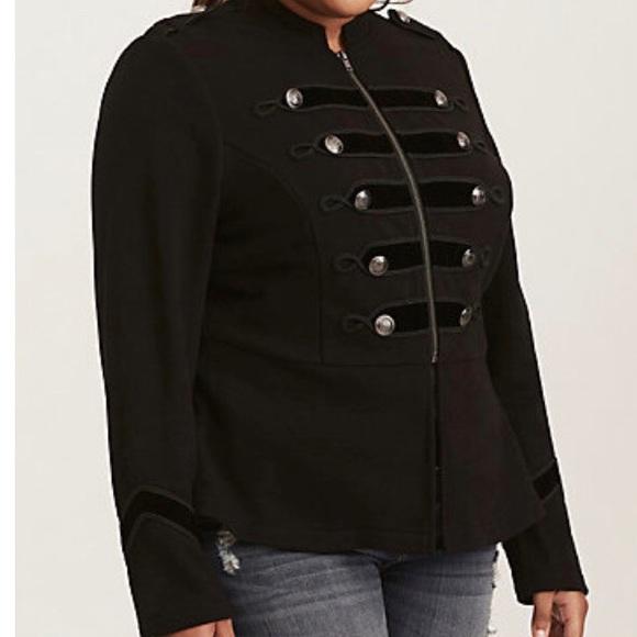 ed5a4075241 NWT Torrid Embellished Military Plus Size Jacket